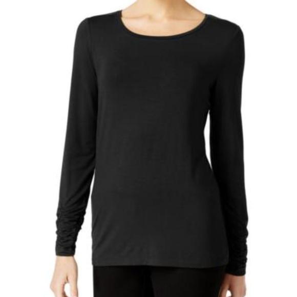 127ca944e5eb1 Alfani women XL pullover shirt black boat neck